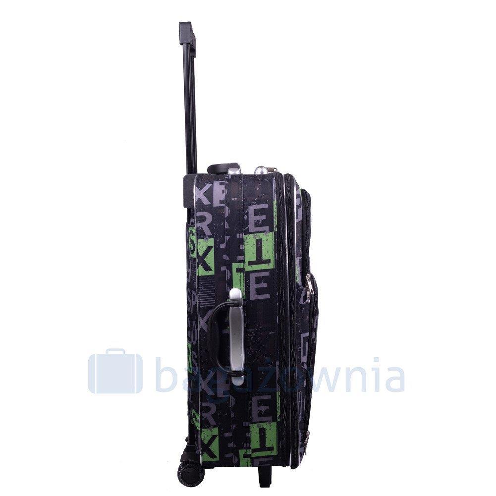 2e32e2cb57ca4 ... Mała kabinowa walizka PELLUCCI 773 S - Czarno Zielona ...